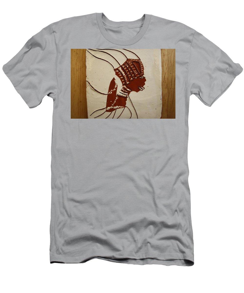 Jesus Men's T-Shirt (Athletic Fit) featuring the ceramic art Bride 4 - Tile by Gloria Ssali