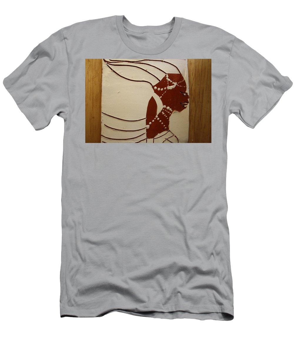 Jesus Men's T-Shirt (Athletic Fit) featuring the ceramic art Bride 6 - Tile by Gloria Ssali