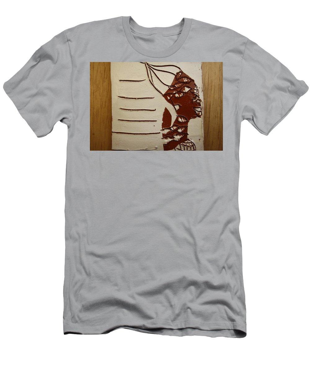 Jesus Men's T-Shirt (Athletic Fit) featuring the ceramic art Bride 8 - Tile by Gloria Ssali