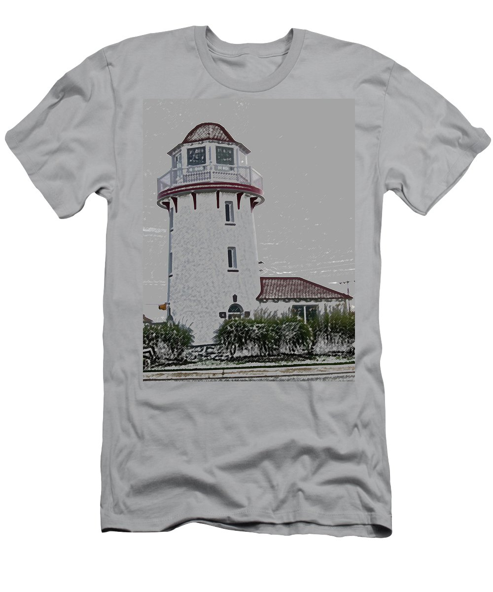 Lighthouse Men's T-Shirt (Athletic Fit) featuring the photograph Brigantine Lighthouse by Trish Tritz
