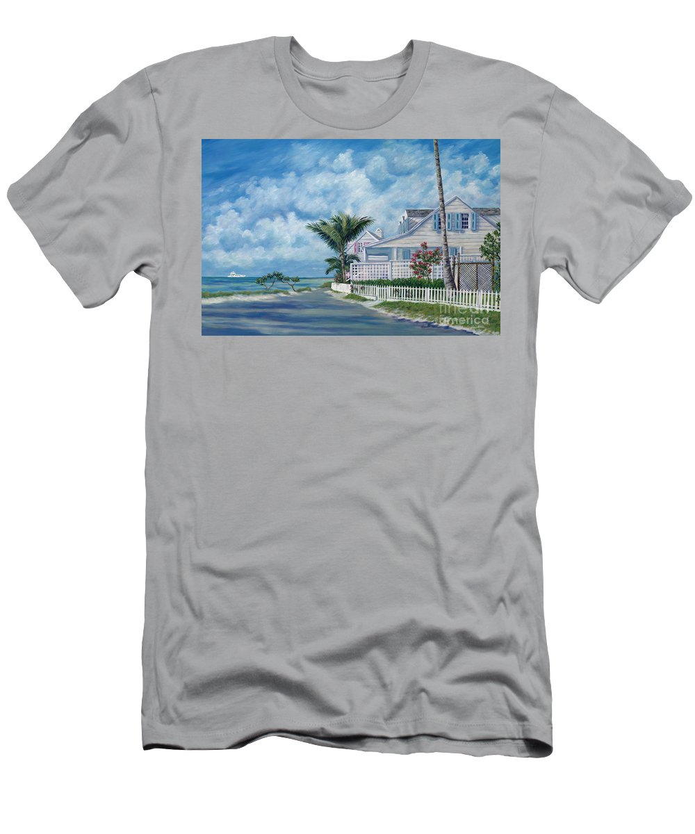 Harbor Island Men's T-Shirt (Athletic Fit) featuring the painting Briland Breeze by Danielle Perry