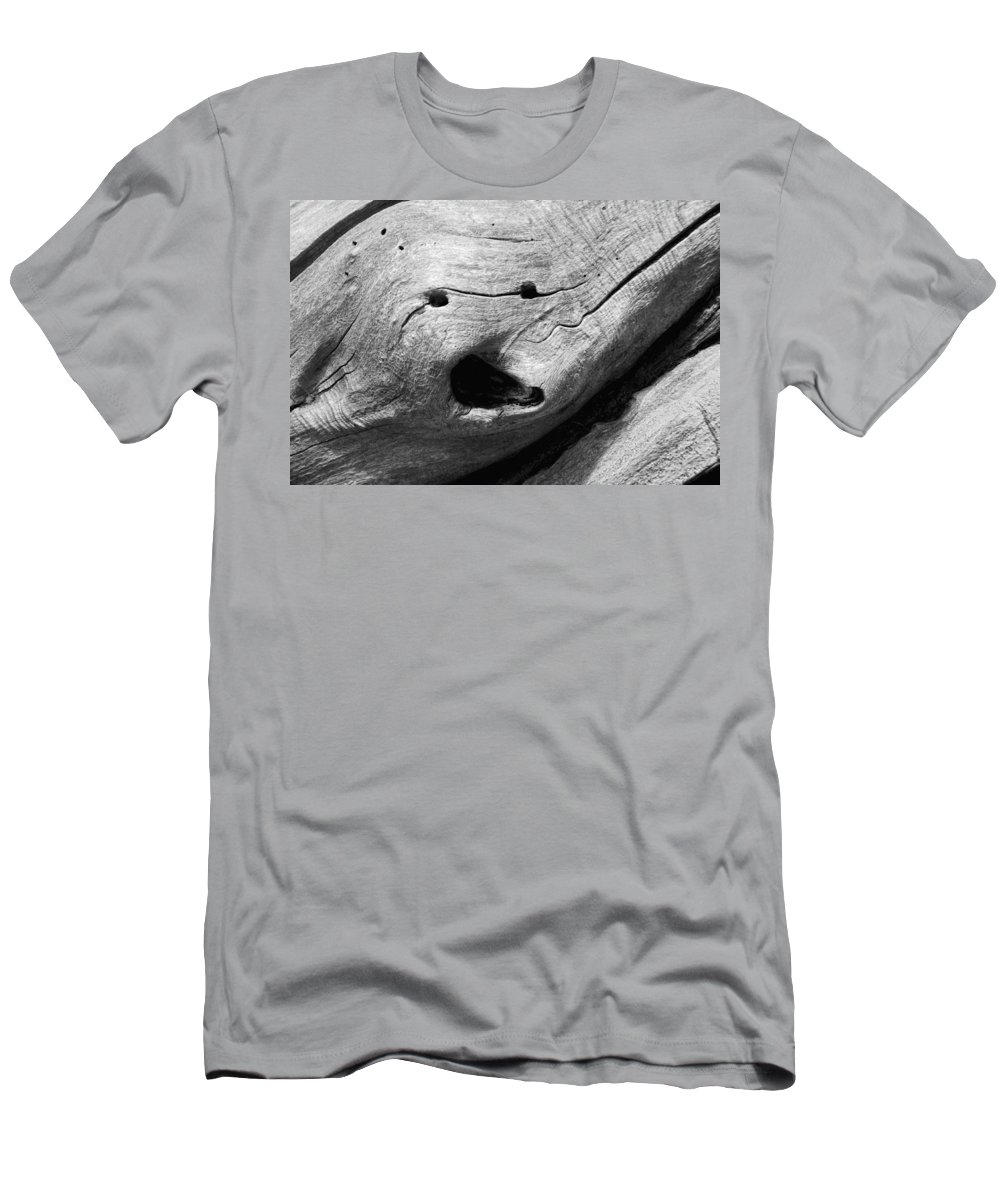 Wood Men's T-Shirt (Athletic Fit) featuring the photograph Broken Smiles by Donna Blackhall