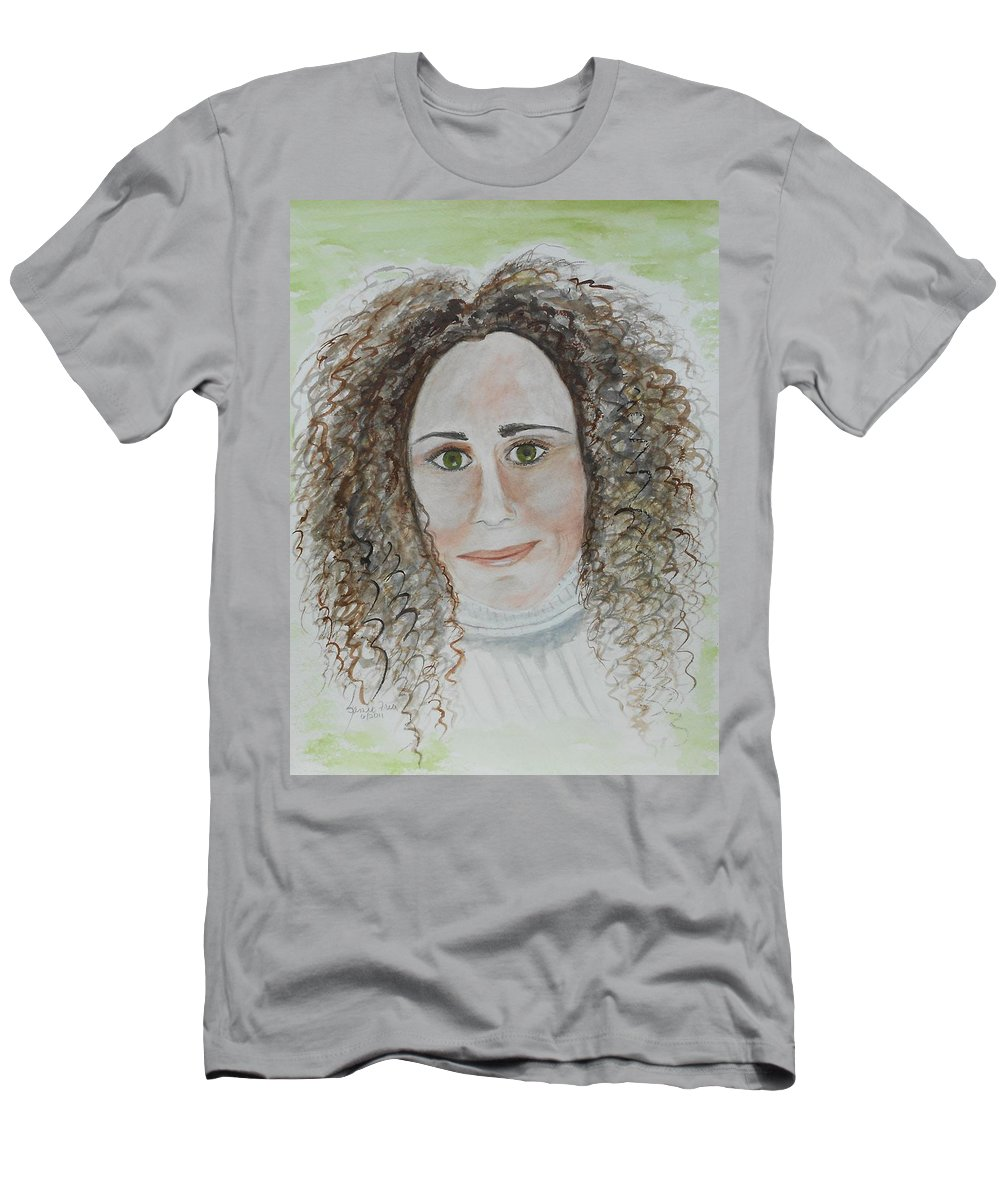 Portrait Men's T-Shirt (Athletic Fit) featuring the painting Brooke by Jamie Frier