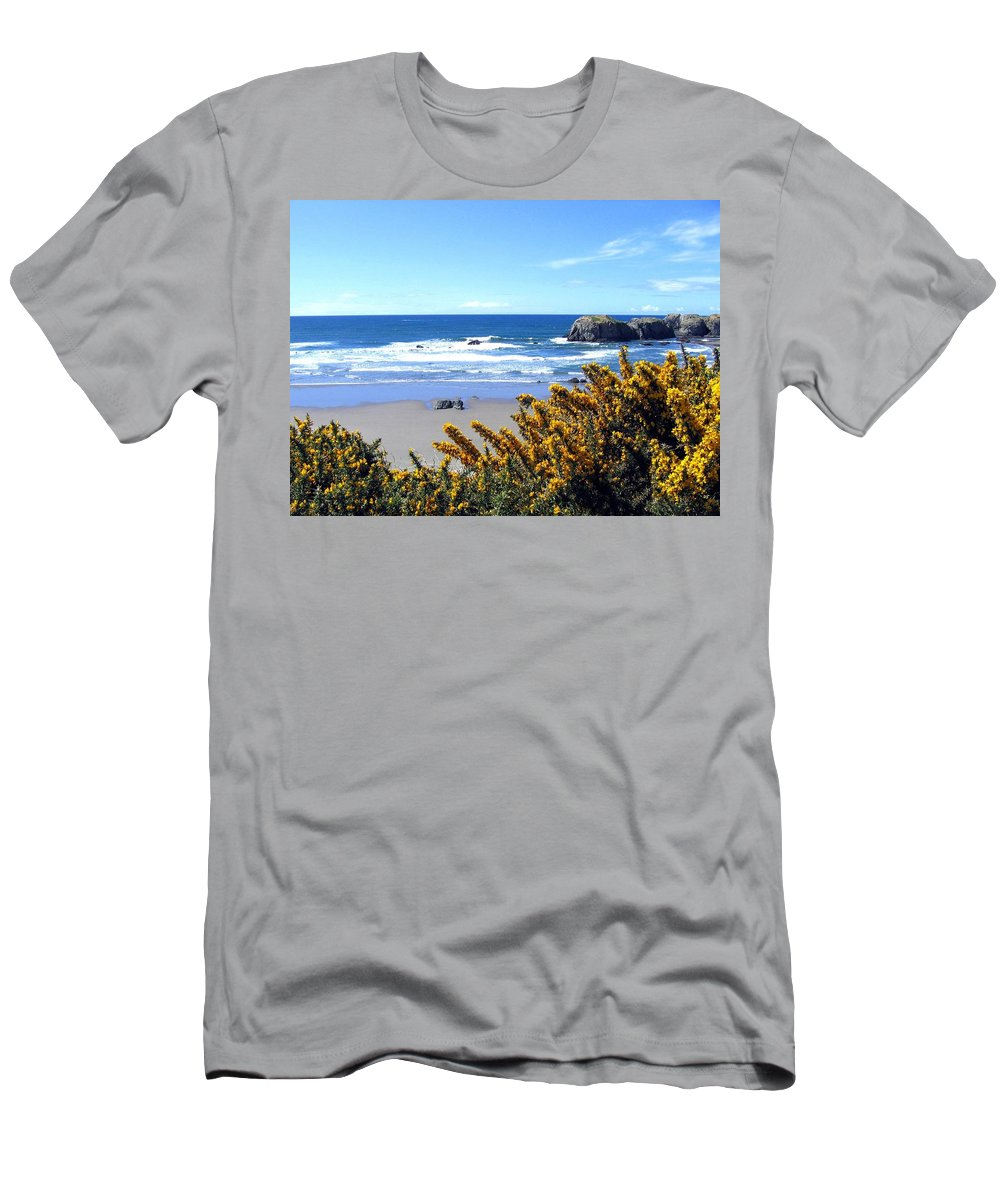 Broom Men's T-Shirt (Athletic Fit) featuring the photograph Broom In Bloom by Will Borden