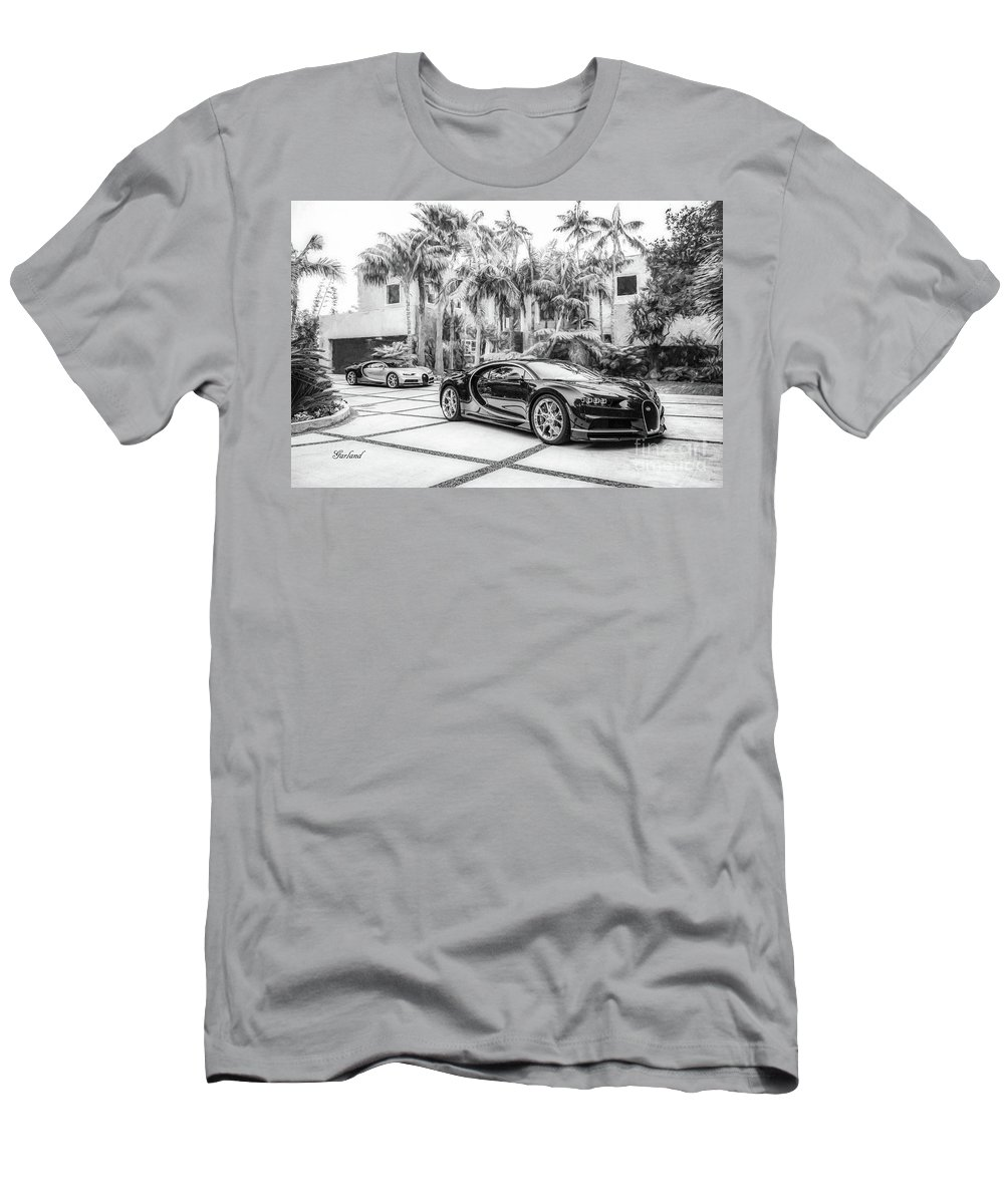 Car Men's T-Shirt (Athletic Fit) featuring the mixed media Bugatti Chiron 5 by Garland Johnson