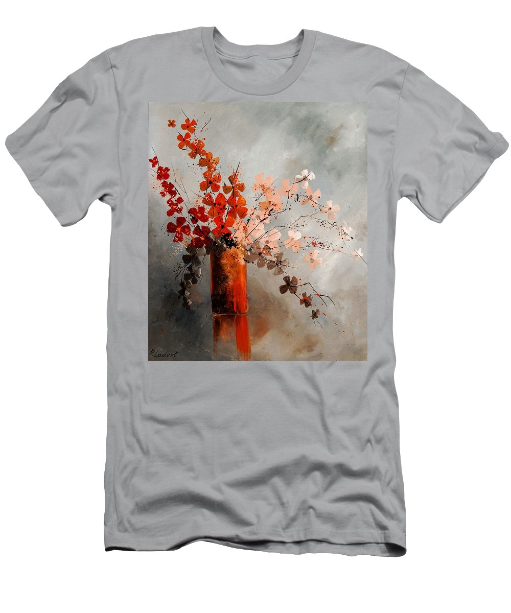 Flowers Men's T-Shirt (Athletic Fit) featuring the painting Bunch 670908 by Pol Ledent