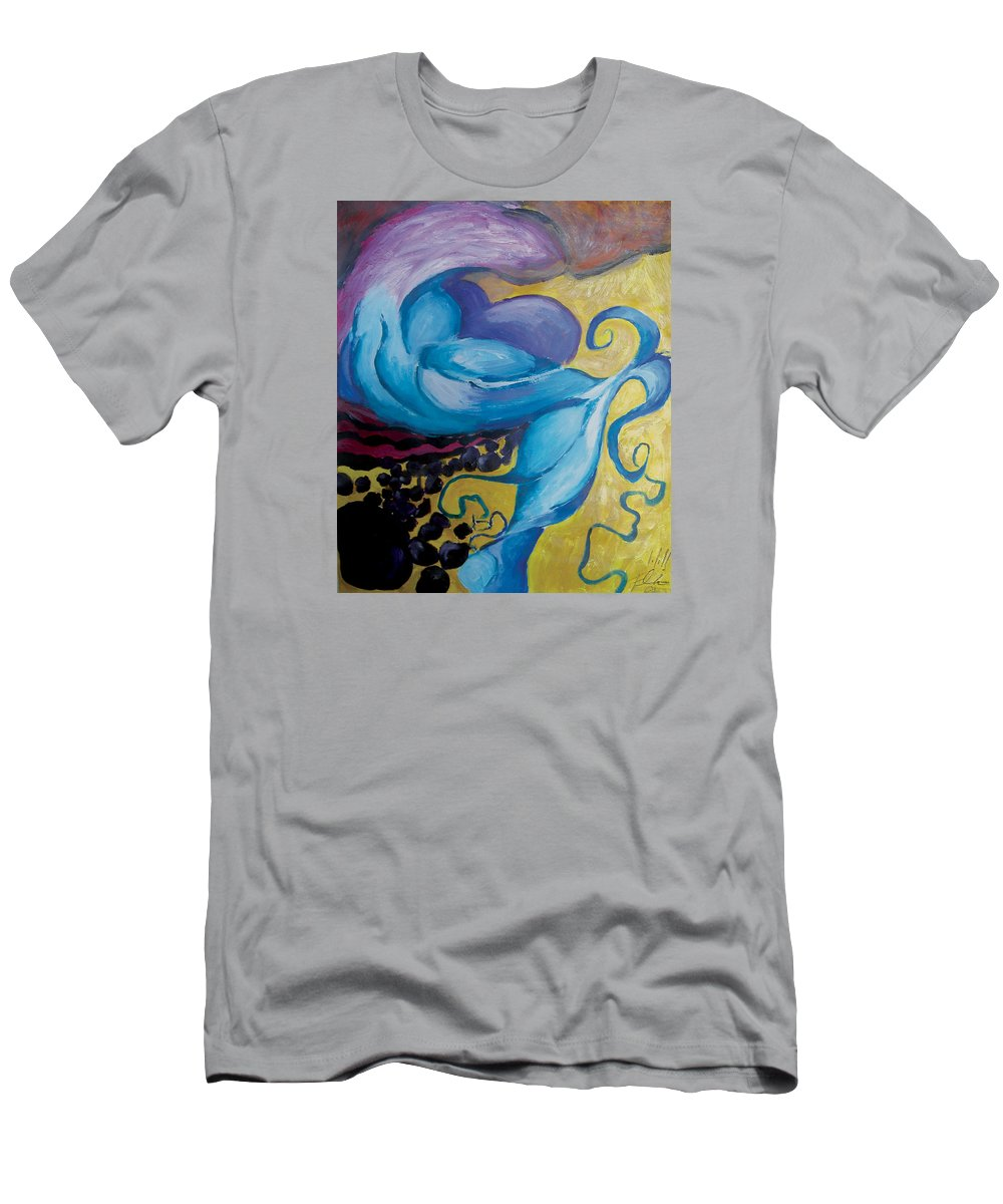 2001 Men's T-Shirt (Athletic Fit) featuring the painting Burgeoning by Will Felix