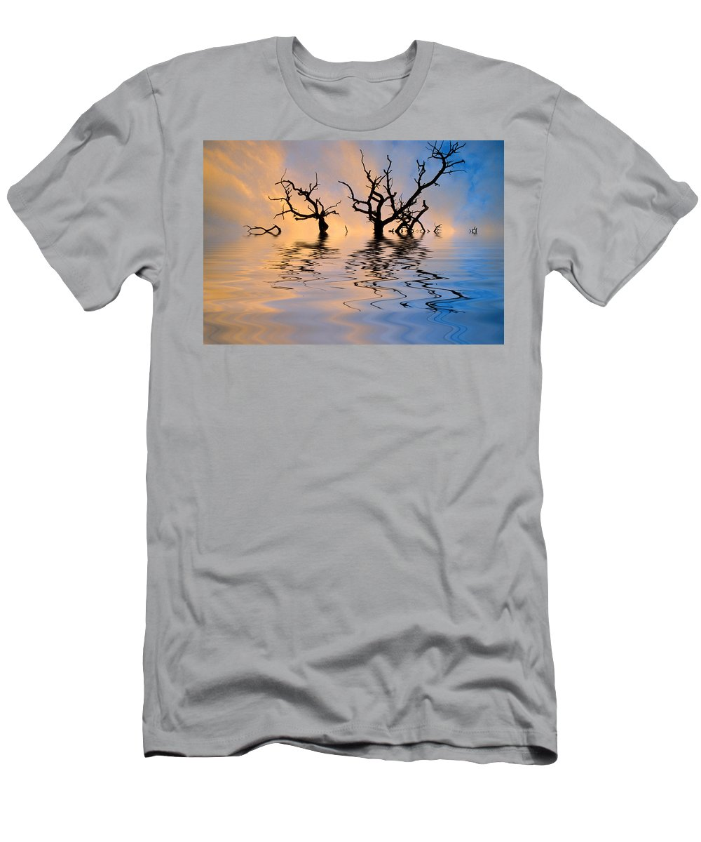 Original Art Men's T-Shirt (Athletic Fit) featuring the photograph Slowly Sinking by Jerry McElroy