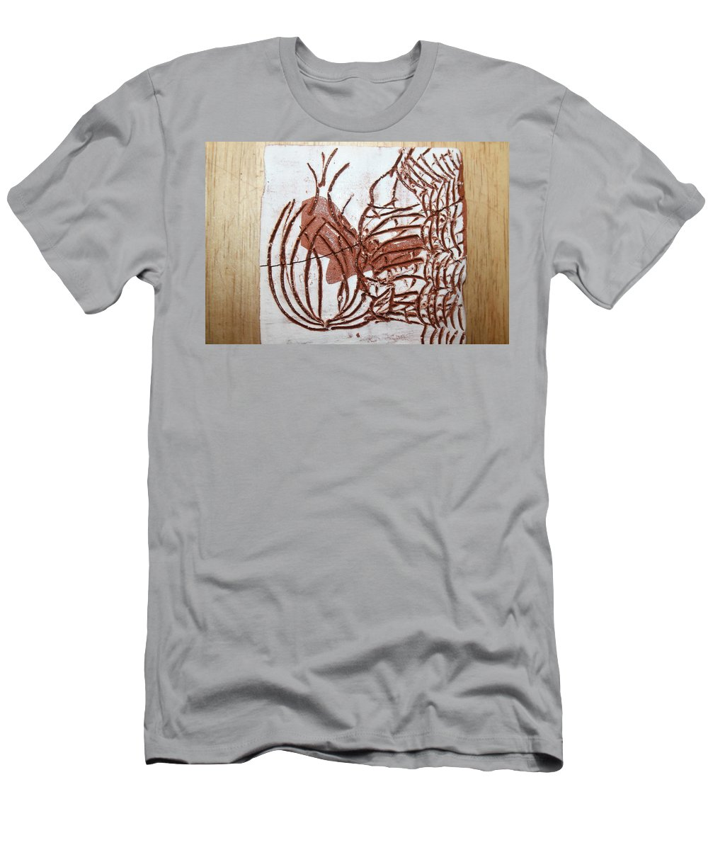Jesus Men's T-Shirt (Athletic Fit) featuring the ceramic art Burning Bush - Tile by Gloria Ssali