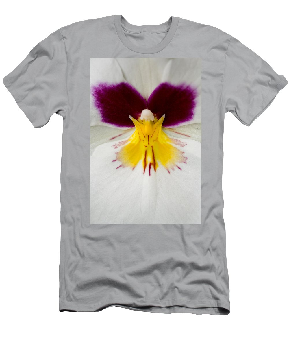 Orchid Men's T-Shirt (Athletic Fit) featuring the photograph Butterfly by Karen Ulvestad