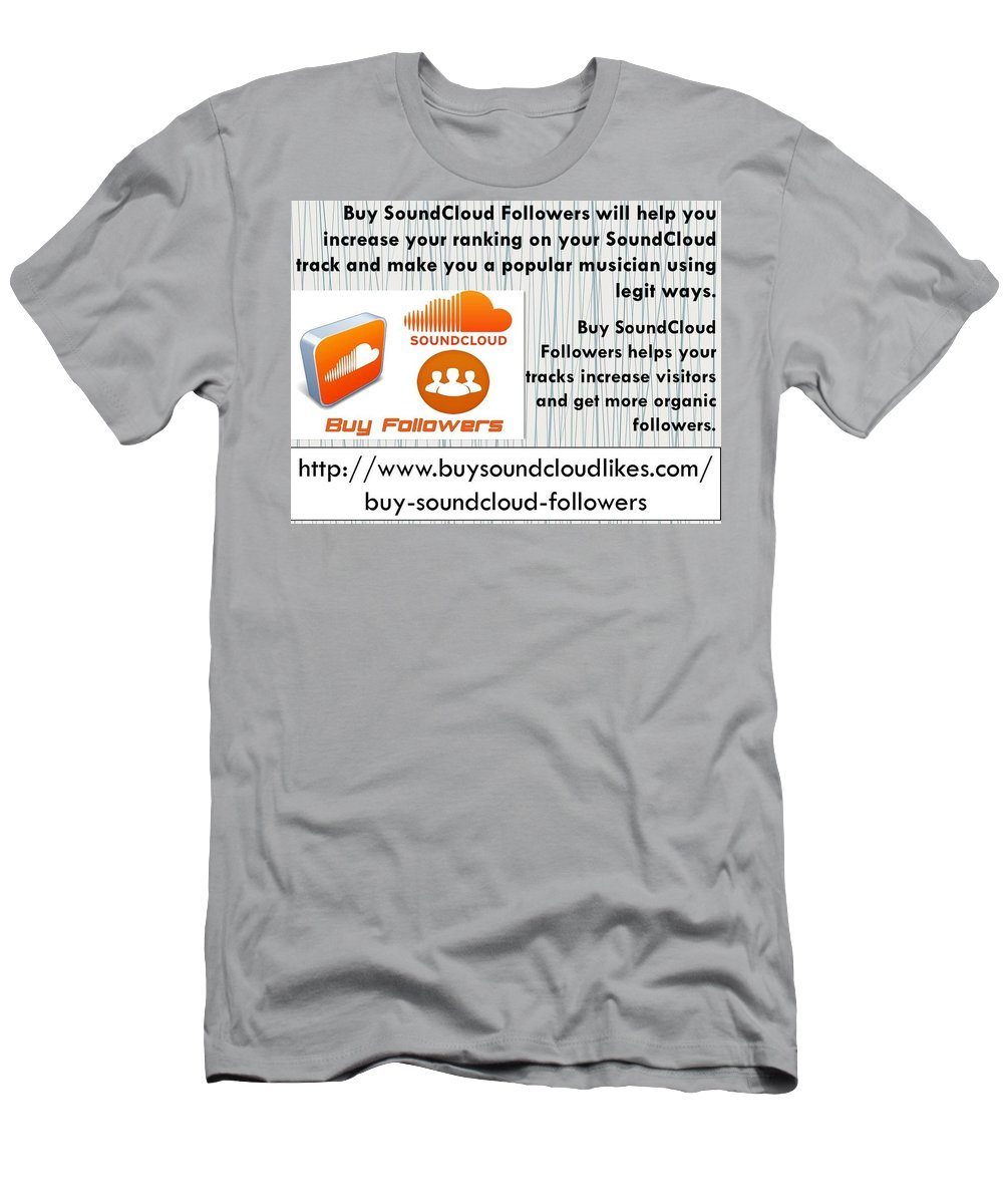 Buy Soundcloud Followers Men's T-Shirt (Athletic Fit) featuring the photograph Buy Soundcloud Followers For Audience Attention- Buysoundcloudlikes by Patrick