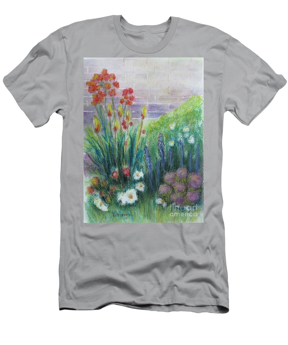 Garden T-Shirt featuring the painting By the Garden Wall by Laurie Morgan