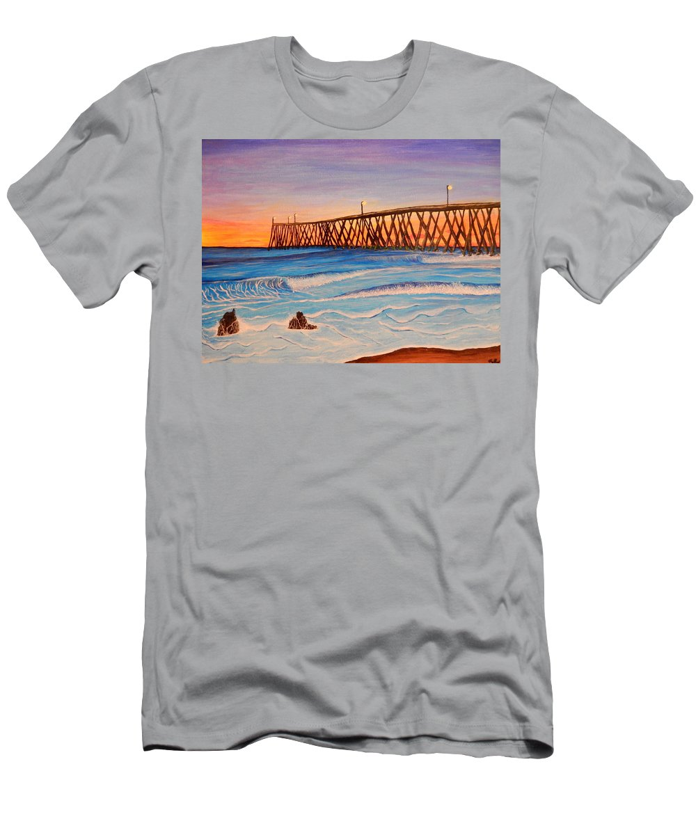 Ocean Men's T-Shirt (Athletic Fit) featuring the painting California by Ryan Rinard