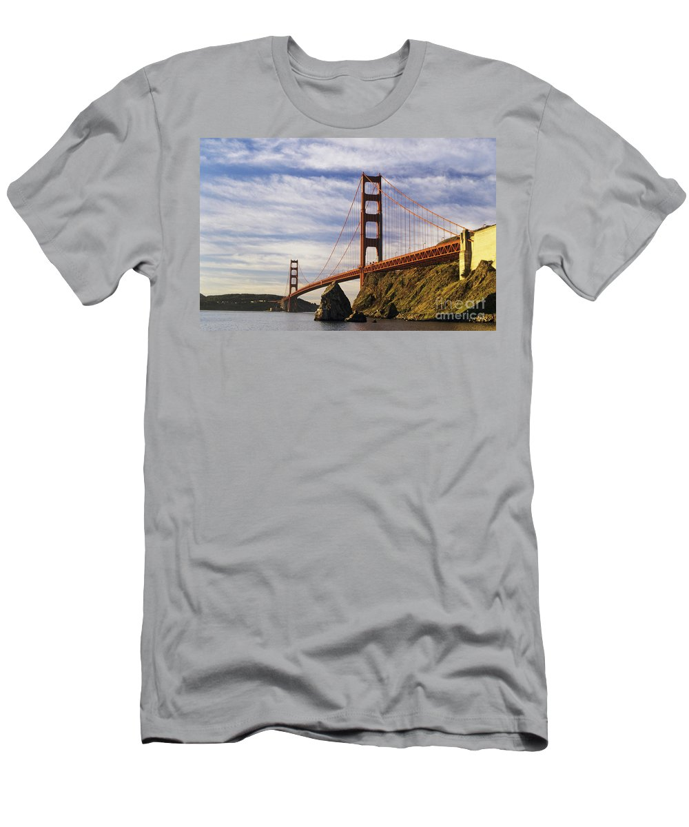 Across Men's T-Shirt (Athletic Fit) featuring the photograph California, San Francisco by Larry Dale Gordon - Printscapes