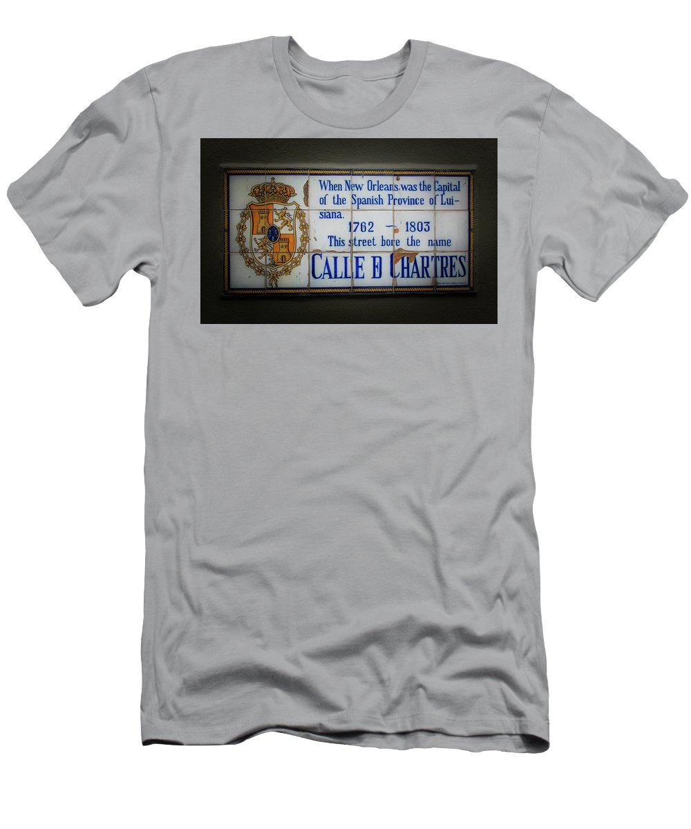 Chartres Street Men's T-Shirt (Athletic Fit) featuring the photograph Calle De Chartres by Greg Mimbs