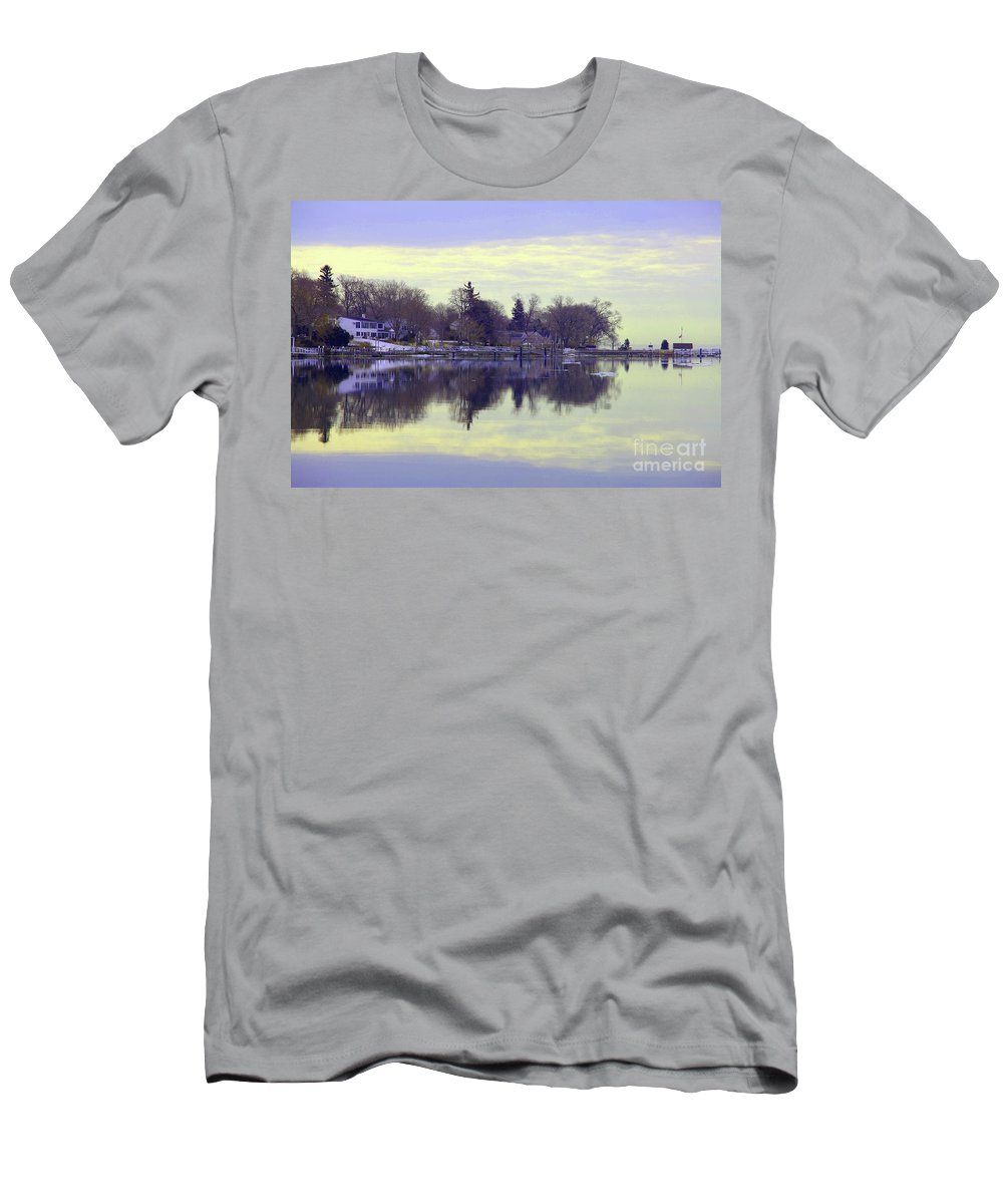 Coastal Men's T-Shirt (Athletic Fit) featuring the photograph Calming Lavendar Scene by Karol Livote