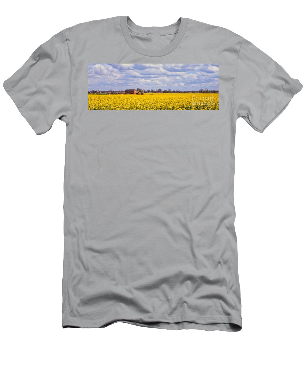 Canola Men's T-Shirt (Athletic Fit) featuring the photograph Canola Field by John Edwards