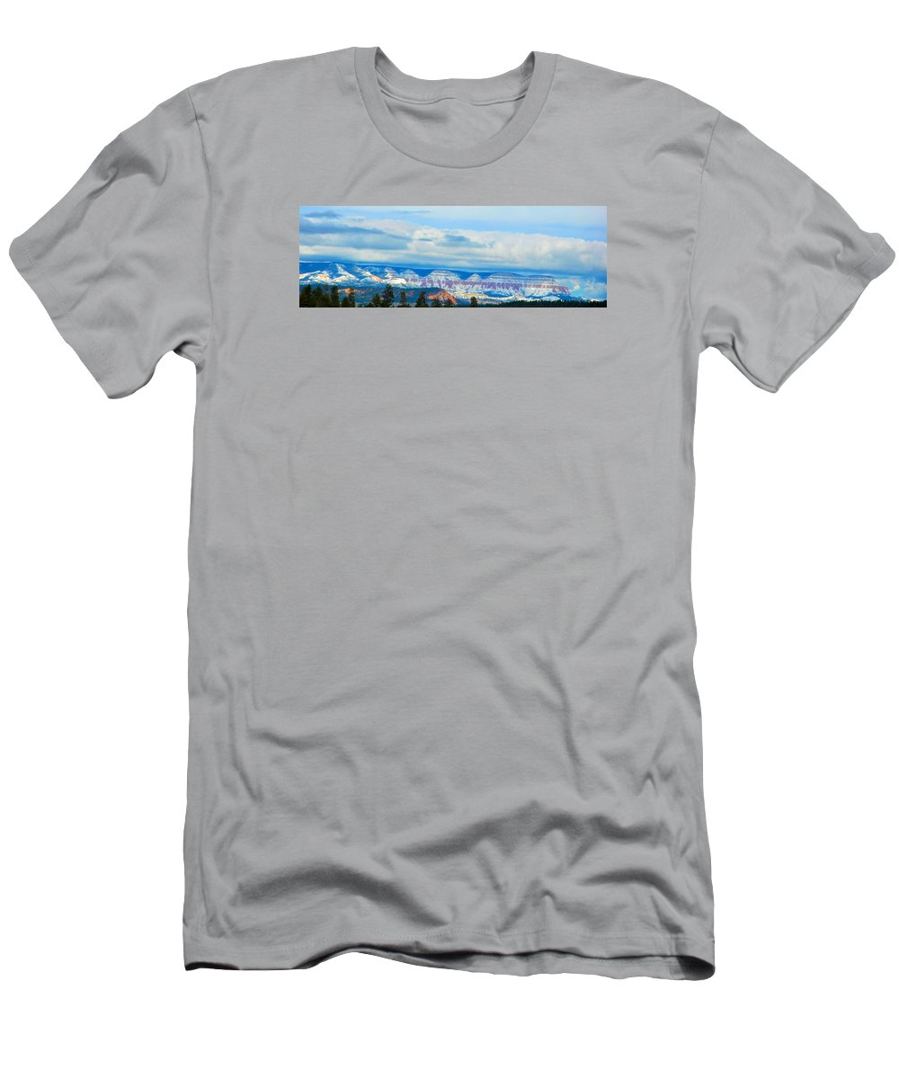 Landscape Men's T-Shirt (Athletic Fit) featuring the photograph Canyon Beginnings by Susan Walkingstick