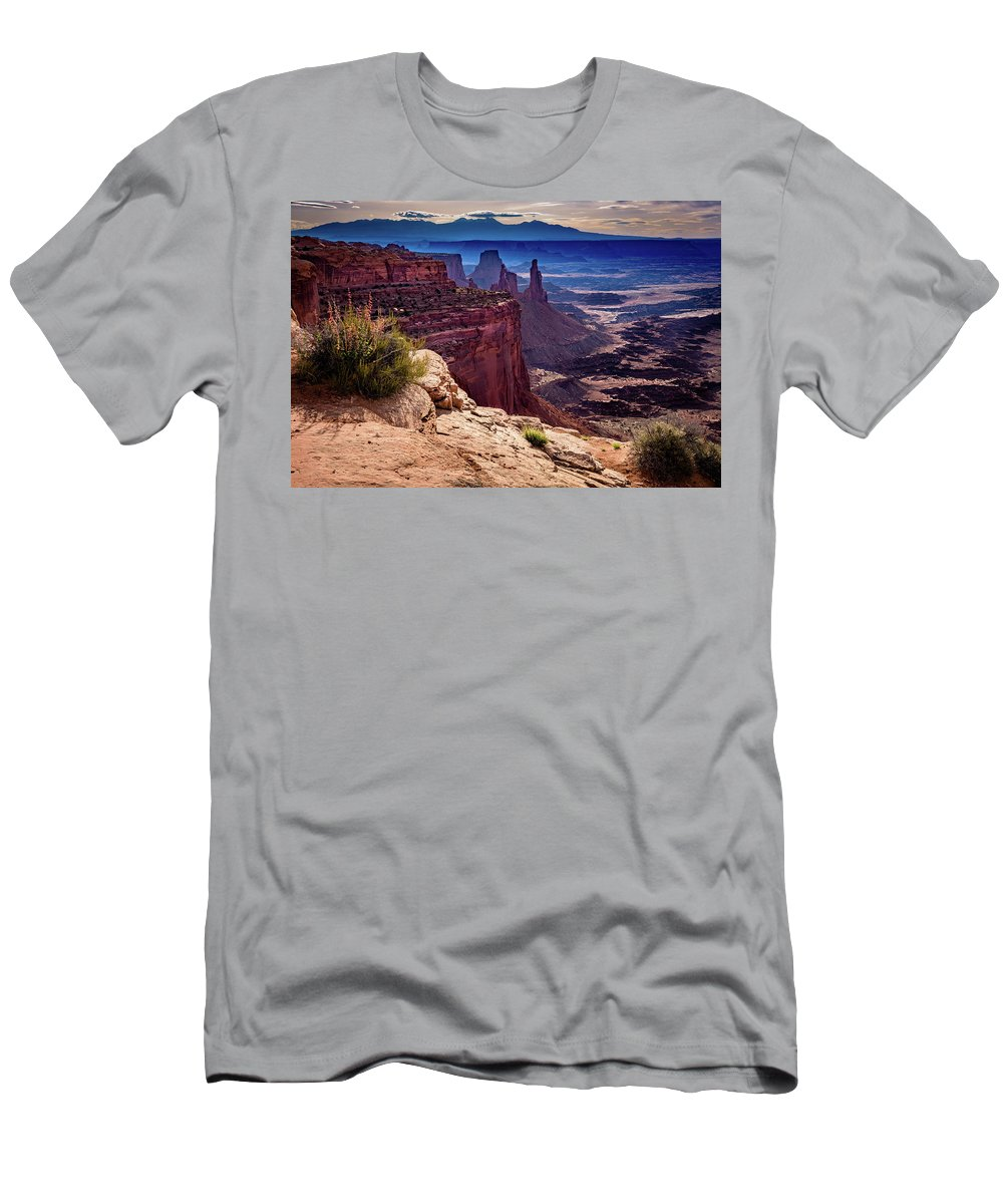 Bird Men's T-Shirt (Athletic Fit) featuring the photograph Canyonlands Vista by John Hight