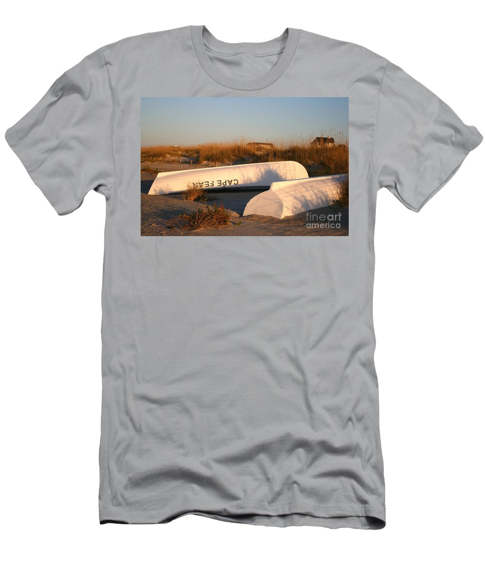 Boats Men's T-Shirt (Athletic Fit) featuring the photograph Cape Fear Boats by Nadine Rippelmeyer