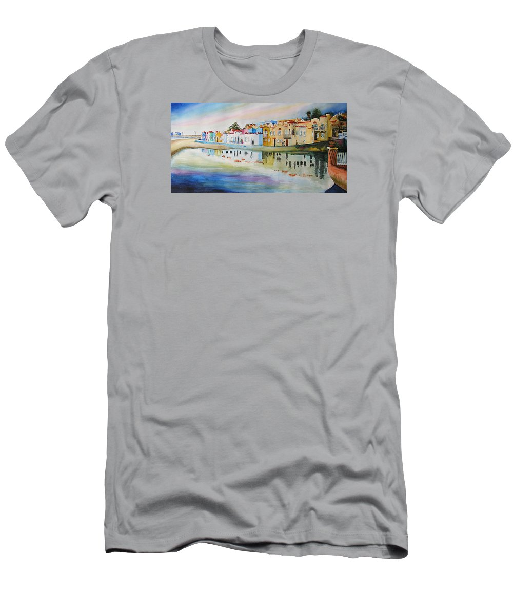 Capitola Men's T-Shirt (Athletic Fit) featuring the painting Capitola by Karen Stark