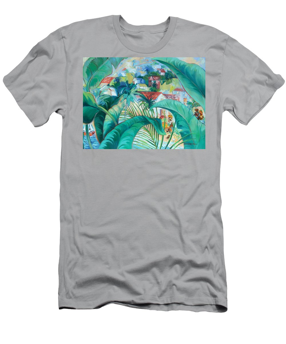 Caribbean Figures T-Shirt featuring the painting Caribbean Fantasy by Dianna Willman