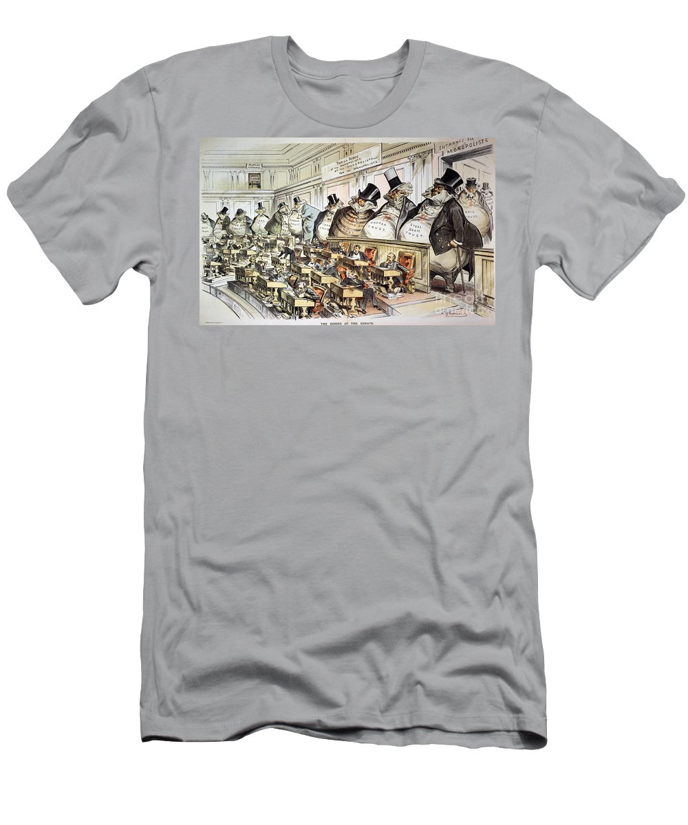 1889 Men's T-Shirt (Athletic Fit) featuring the photograph Cartoon: Anti-trust, 1889 by Granger