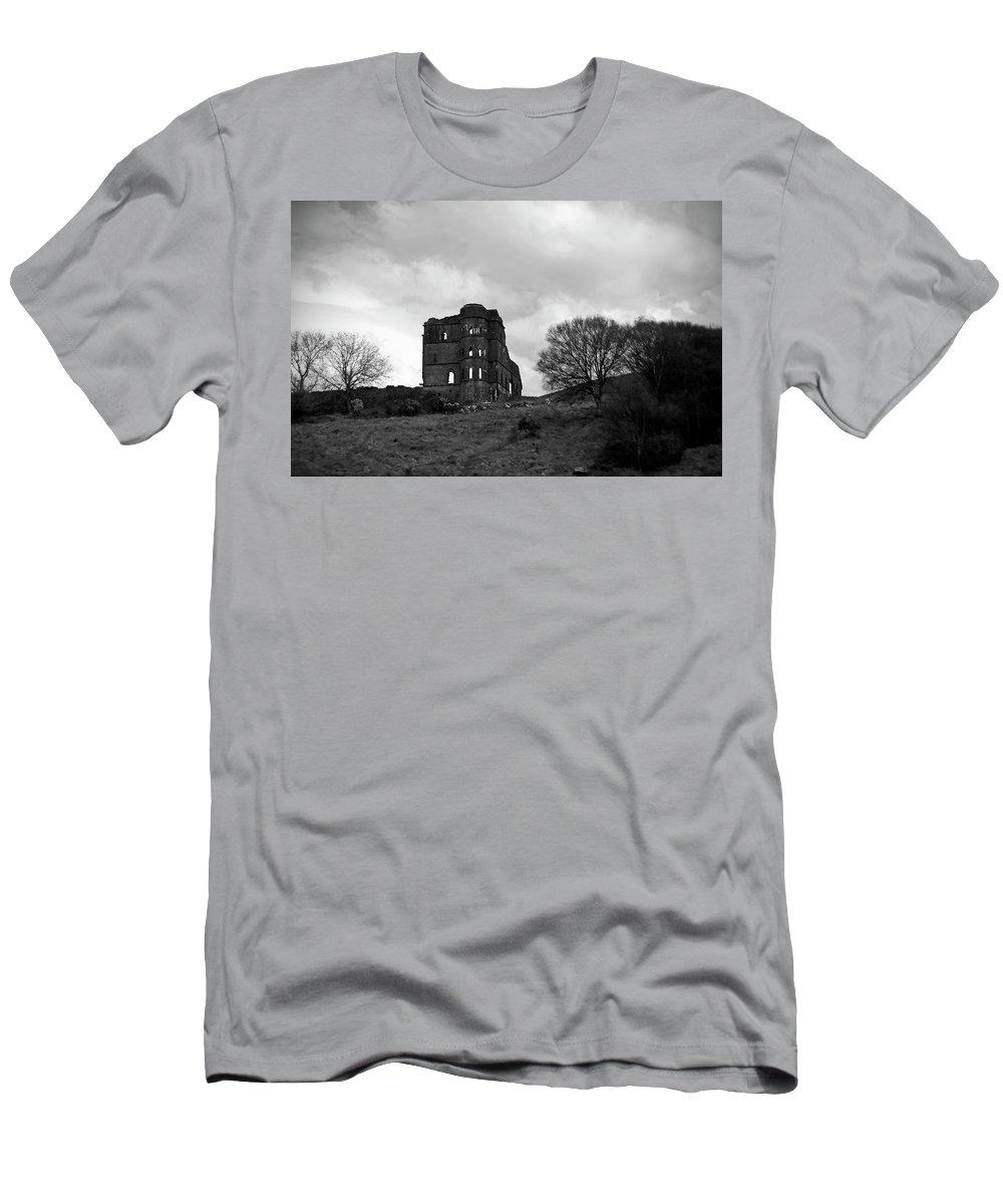 Castle Men's T-Shirt (Athletic Fit) featuring the photograph Castle Ruin by Aidan Moran