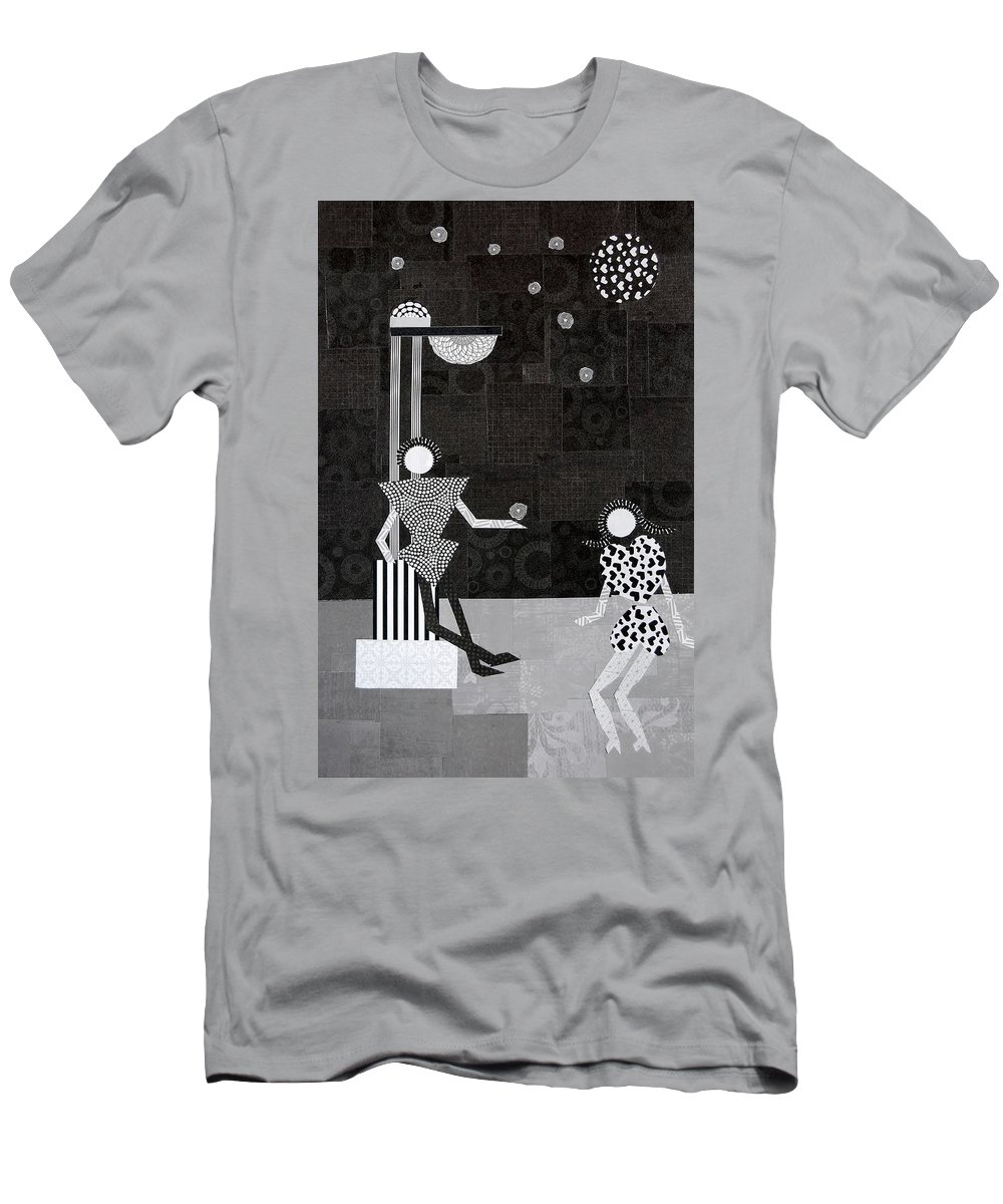 Stars T-Shirt featuring the mixed media Catch A Falling Star by Charla Van Vlack
