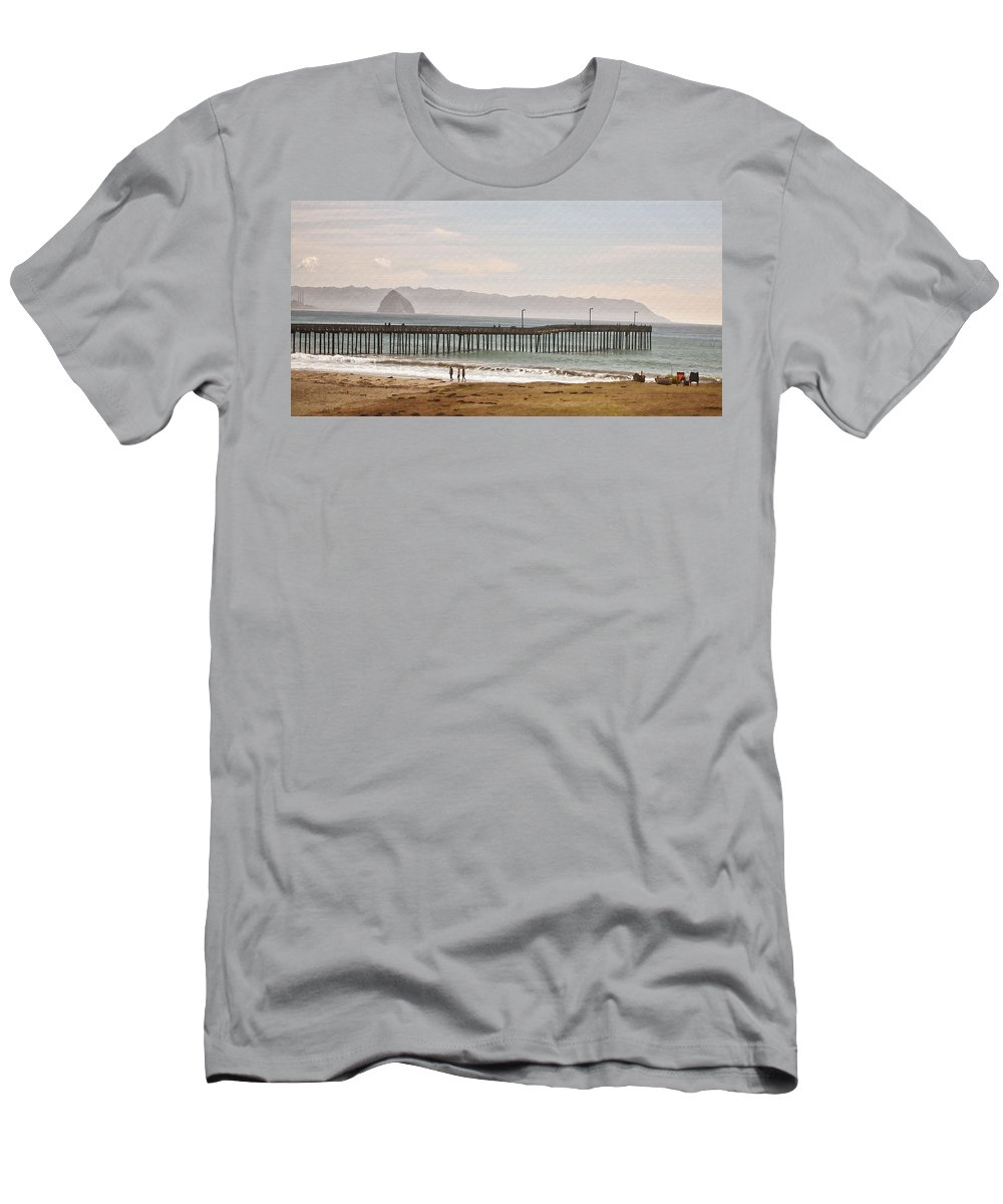 Pier Men's T-Shirt (Athletic Fit) featuring the digital art Caycous Pier II by Sharon Foster