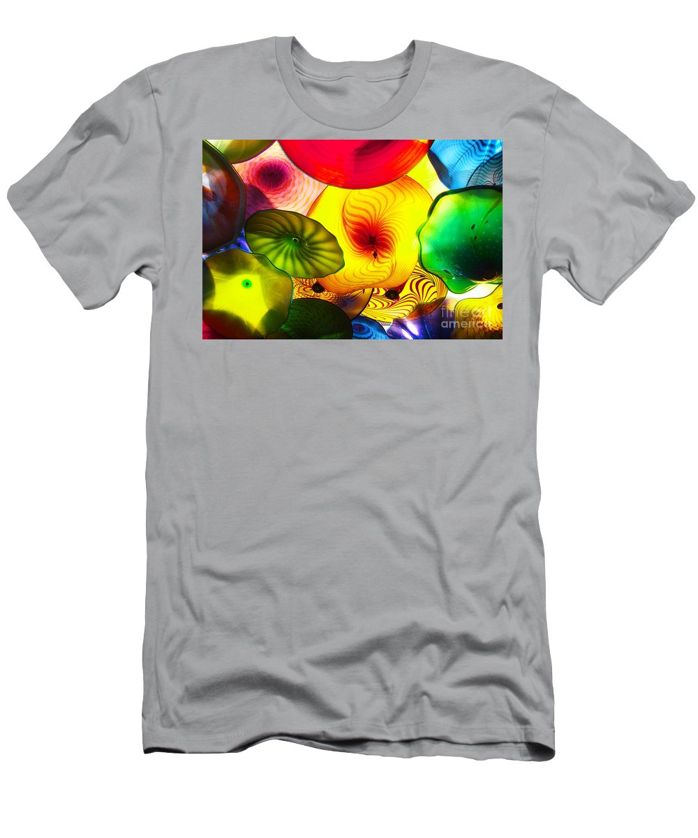 Glass Men's T-Shirt (Athletic Fit) featuring the photograph Celestial Glass 2 by Xueling Zou
