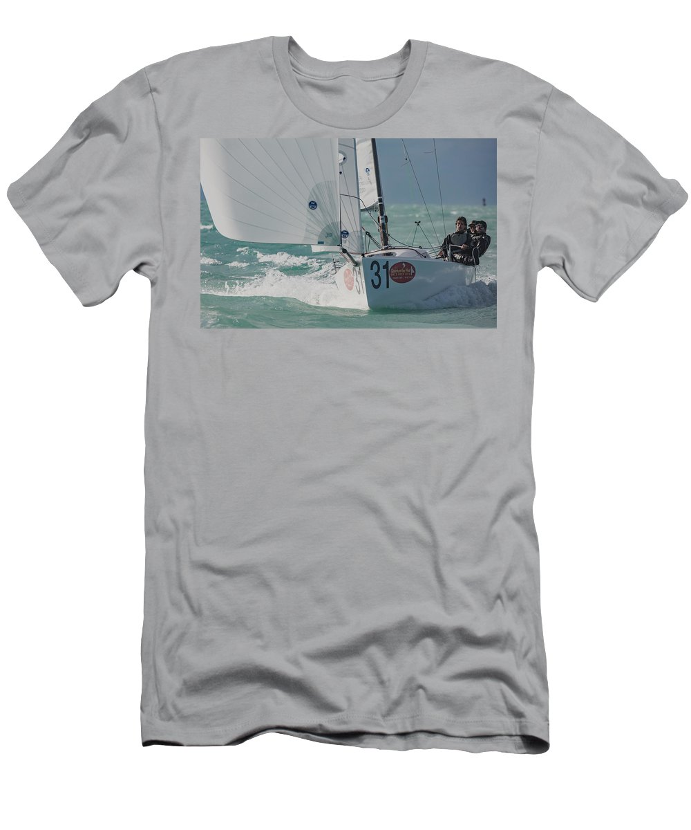 Sail Men's T-Shirt (Athletic Fit) featuring the photograph Center Of Attention by Steven Lapkin
