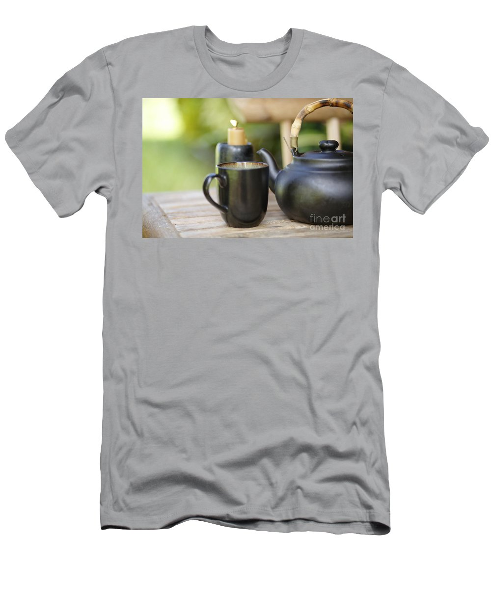 Allure Men's T-Shirt (Athletic Fit) featuring the photograph Ceramic Tea Set by Kicka Witte - Printscapes