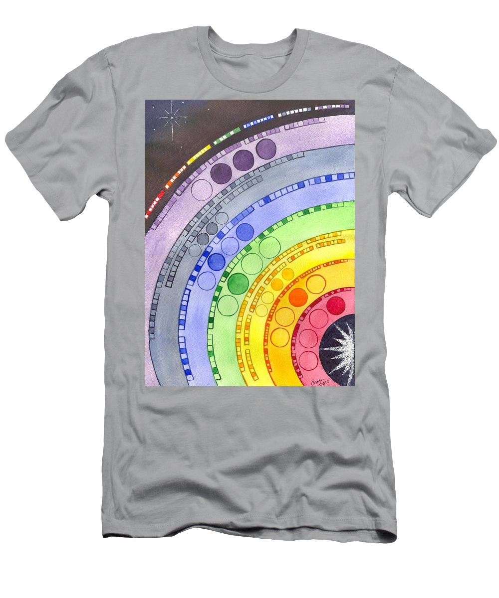 Chakra Men's T-Shirt (Athletic Fit) featuring the painting Chakras by Catherine G McElroy