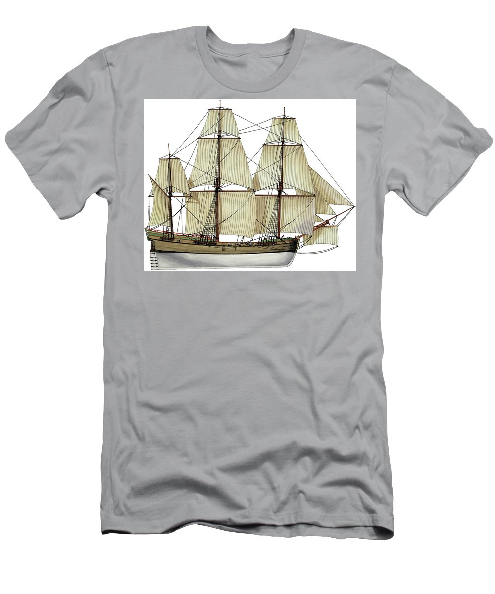 Chat T-Shirt featuring the drawing Chat - 1770 by The Collectioner