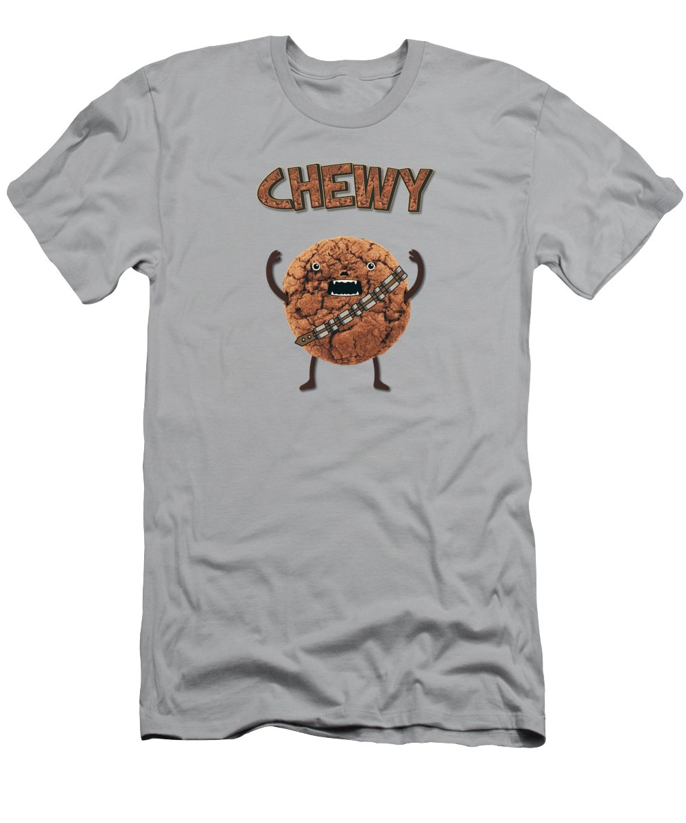 5d98c1d67 Cookie Monster Men's T-Shirt (Athletic Fit) featuring the painting Chewy  Chocolate Cookie