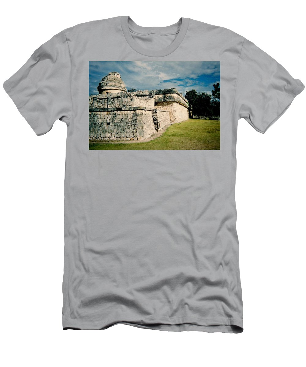 Chitchen Itza Men's T-Shirt (Athletic Fit) featuring the photograph Chichen Itza 1 by Anita Burgermeister