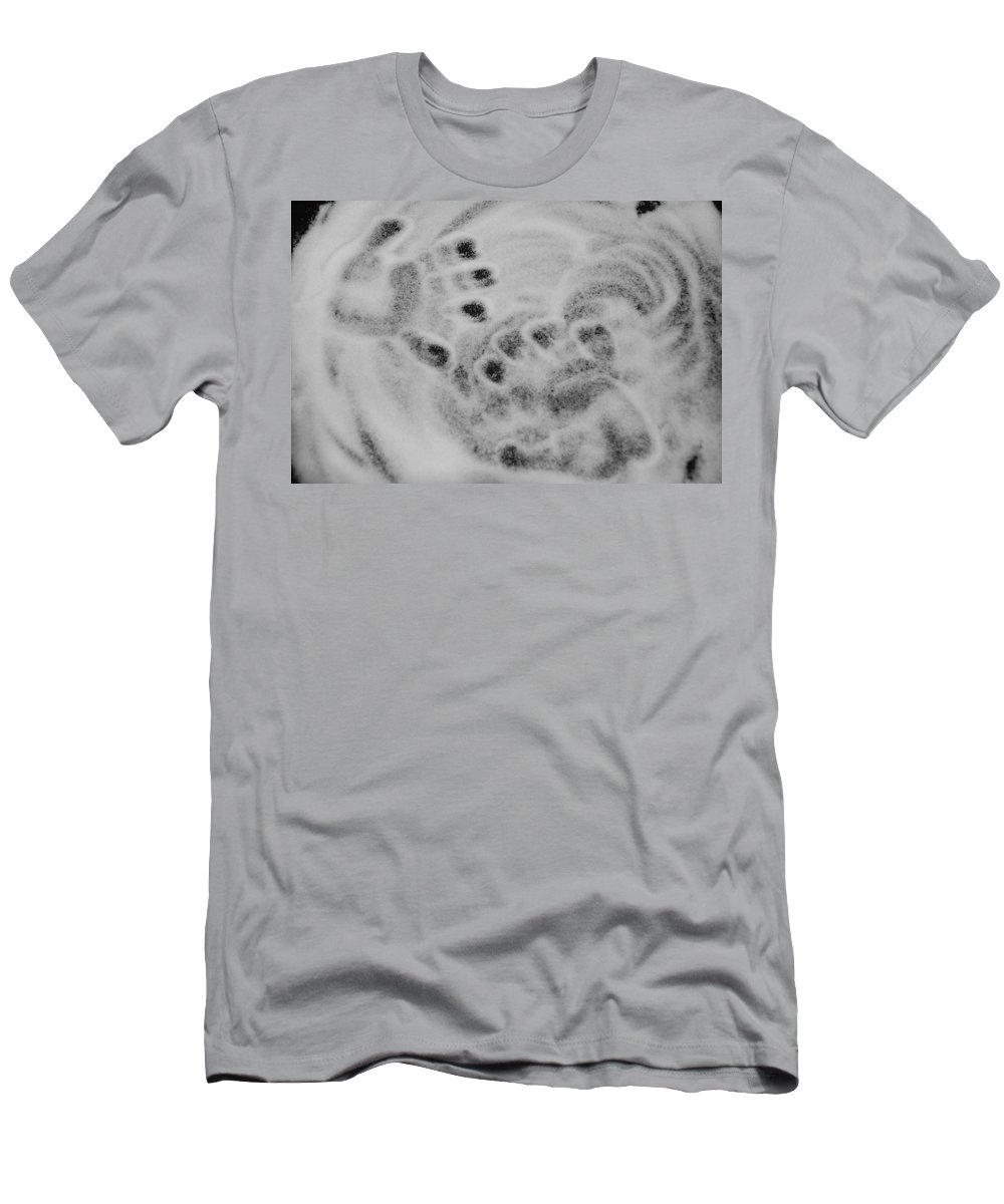 Black And White Men's T-Shirt (Athletic Fit) featuring the photograph Child Hand Prints by Rob Hans