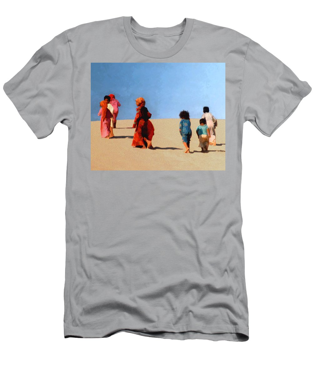 Children Men's T-Shirt (Athletic Fit) featuring the photograph Children Of The Sinai by Kurt Van Wagner