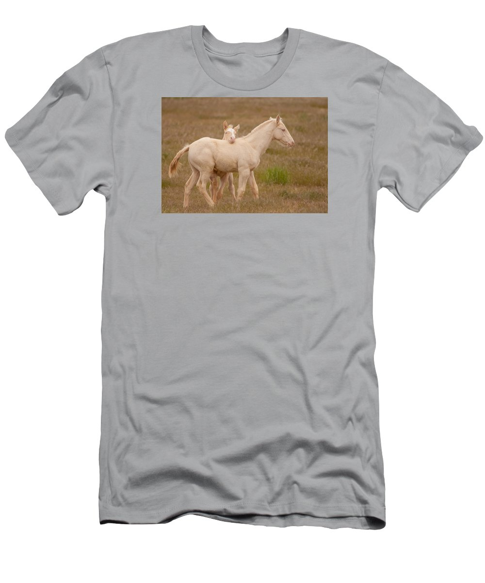 Wild Horse Men's T-Shirt (Athletic Fit) featuring the photograph Chin Rest by Kent Keller