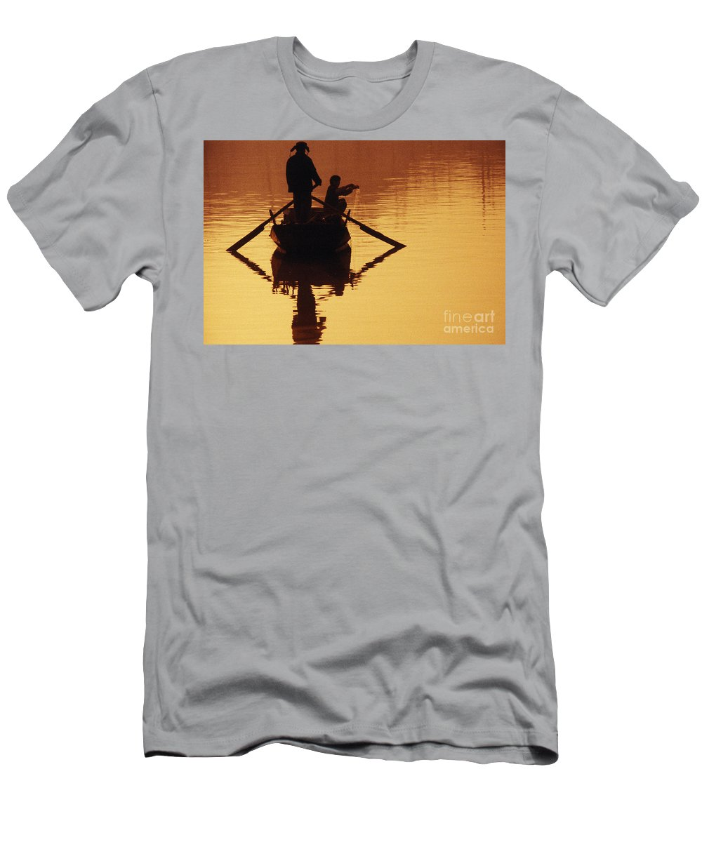 Asian Men's T-Shirt (Athletic Fit) featuring the photograph China, Tianjin by Larry Dale Gordon - Printscapes