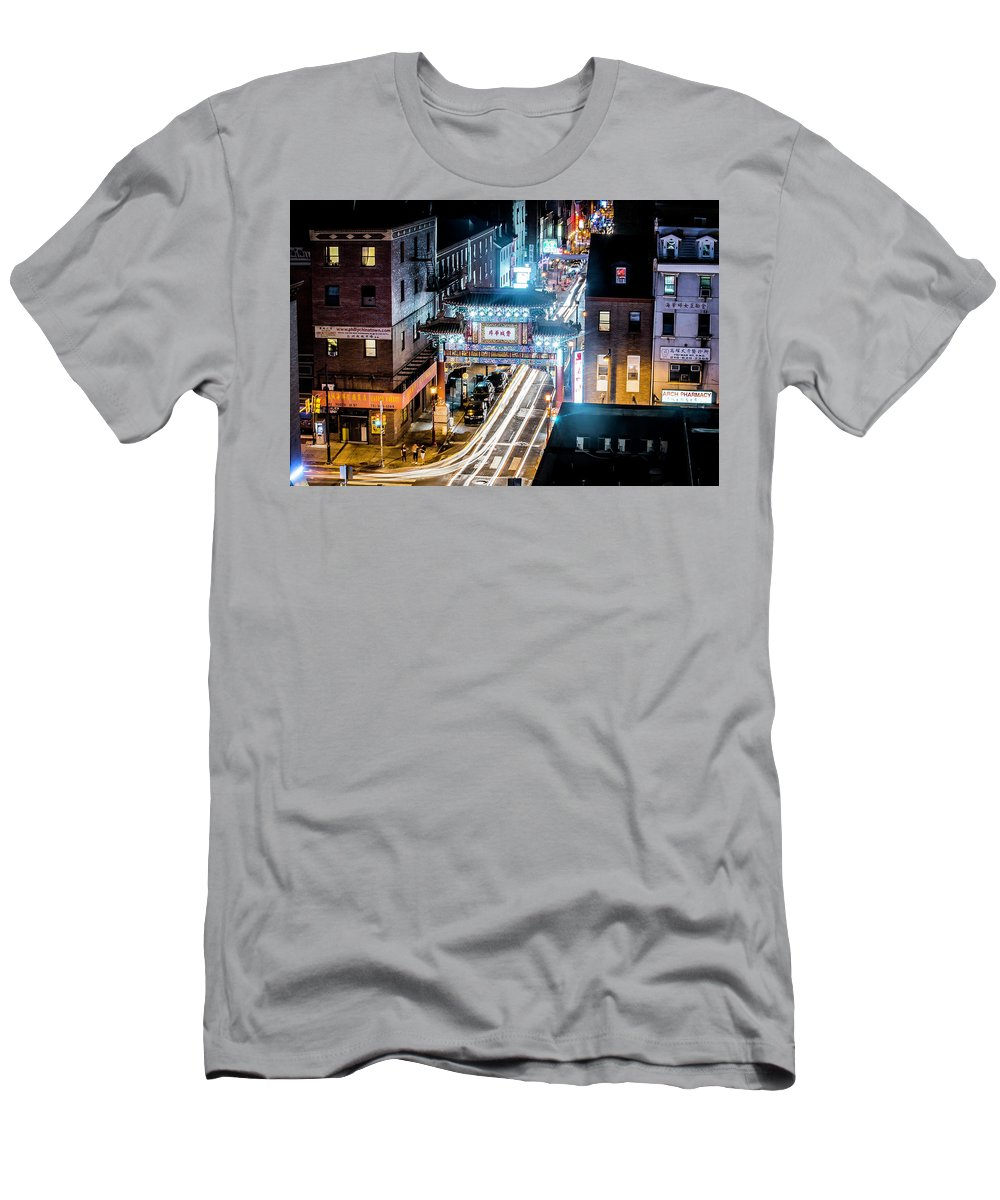 #philadelphia #chinatown #chinatowngates Men's T-Shirt (Athletic Fit) featuring the photograph Chinatown Gates by Richard Dorr