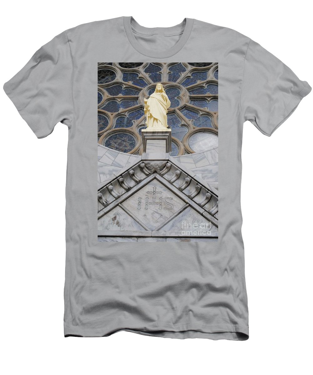 Jesus Men's T-Shirt (Athletic Fit) featuring the photograph Christ by Jost Houk