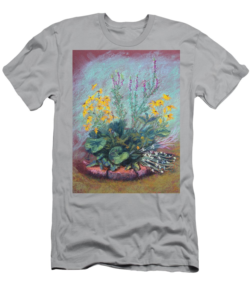 Flowers Men's T-Shirt (Athletic Fit) featuring the painting Christina's Garden by Laurie Paci