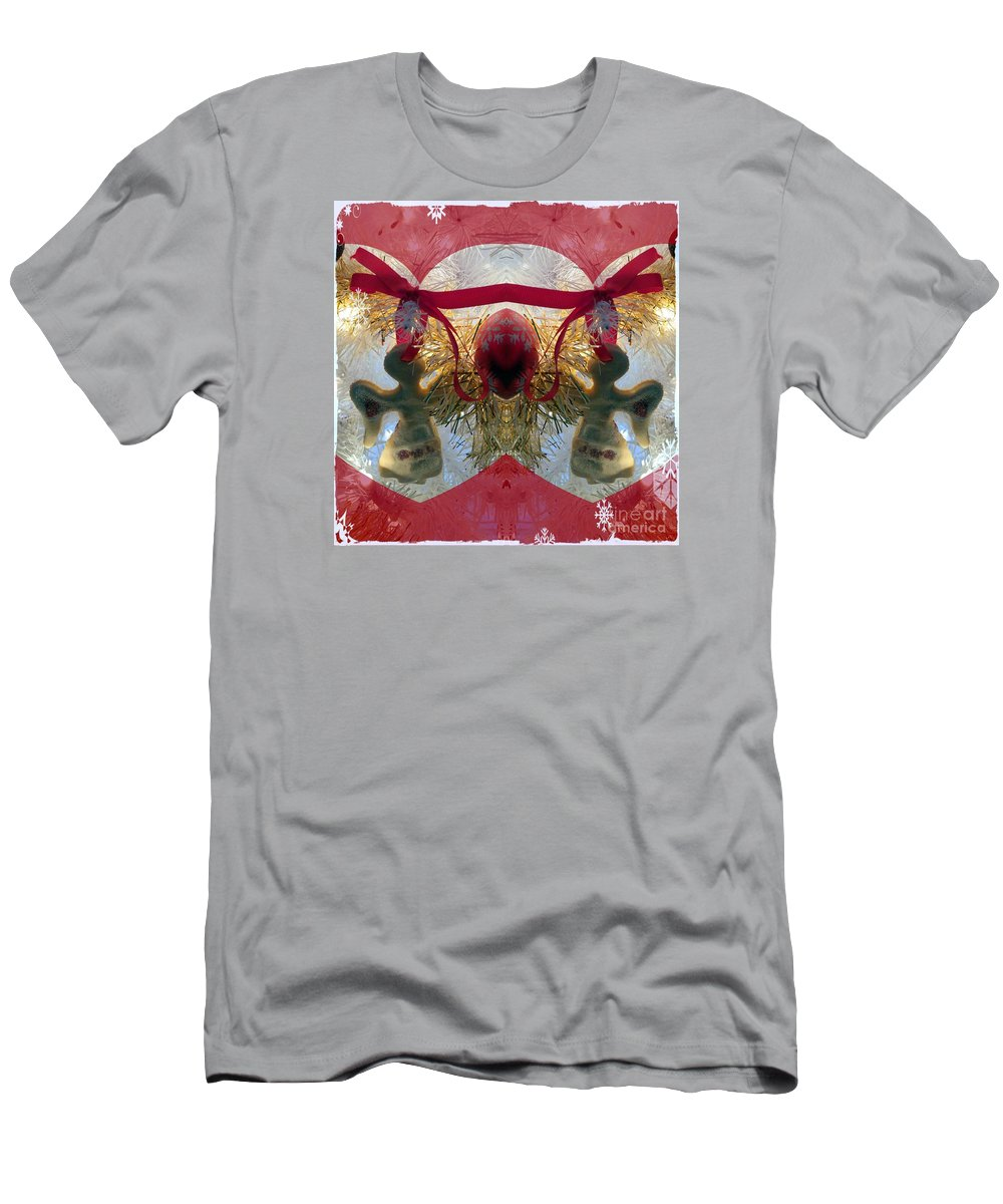 Art Men's T-Shirt (Athletic Fit) featuring the photograph Christmas Angel Magic by Linda Galok