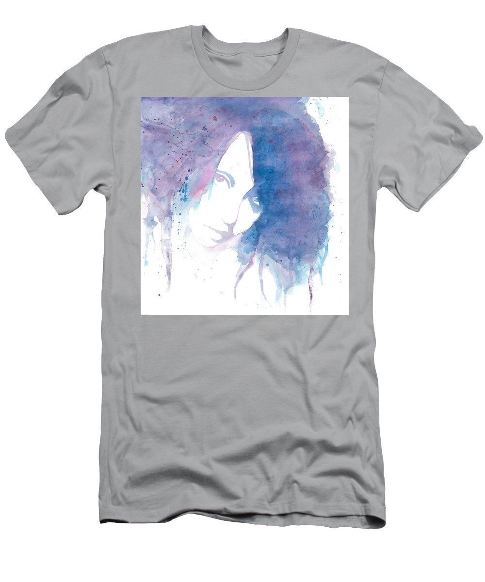 Portrait Men's T-Shirt (Athletic Fit) featuring the painting Chromatic Girl by Raffaello Saverio Padelletti