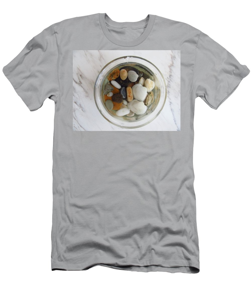 Photography Men's T-Shirt (Athletic Fit) featuring the photograph Circle In Glass And Stone 2 by Galina Todorova