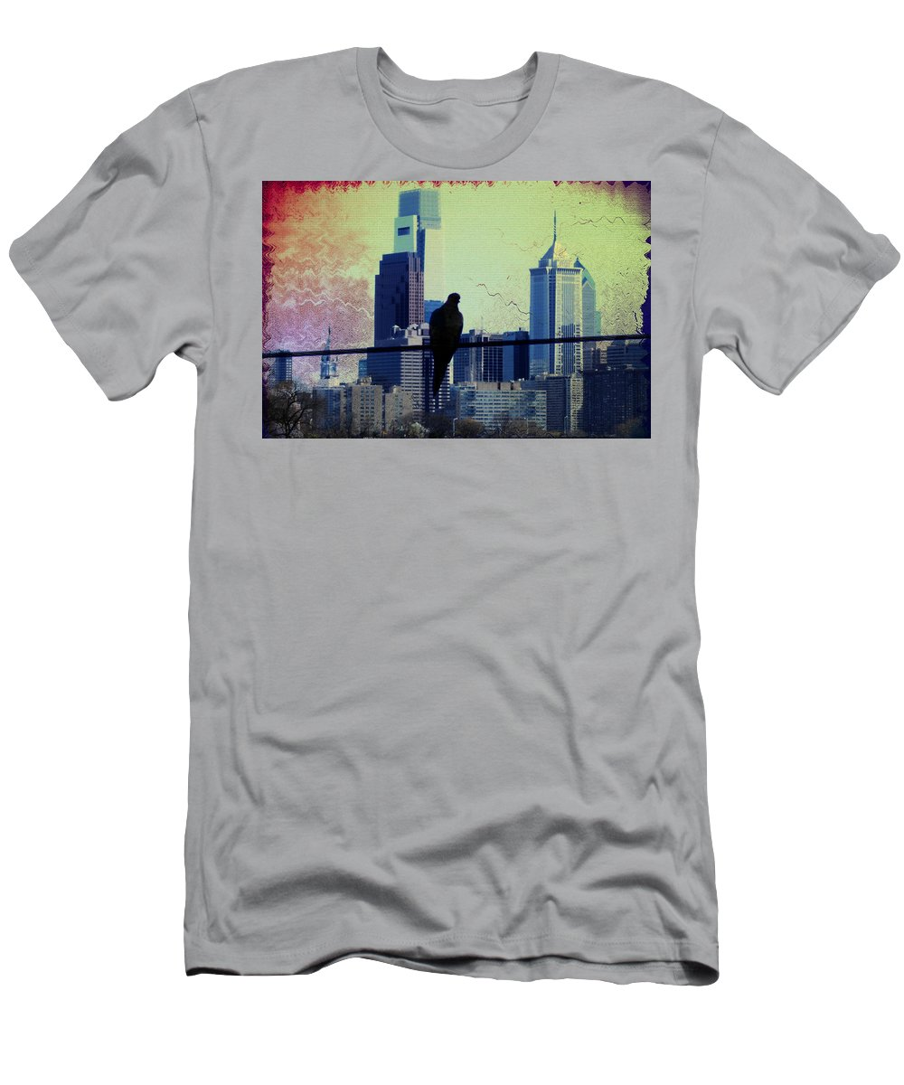 Philadelphia Men's T-Shirt (Athletic Fit) featuring the photograph City Bird by Bill Cannon