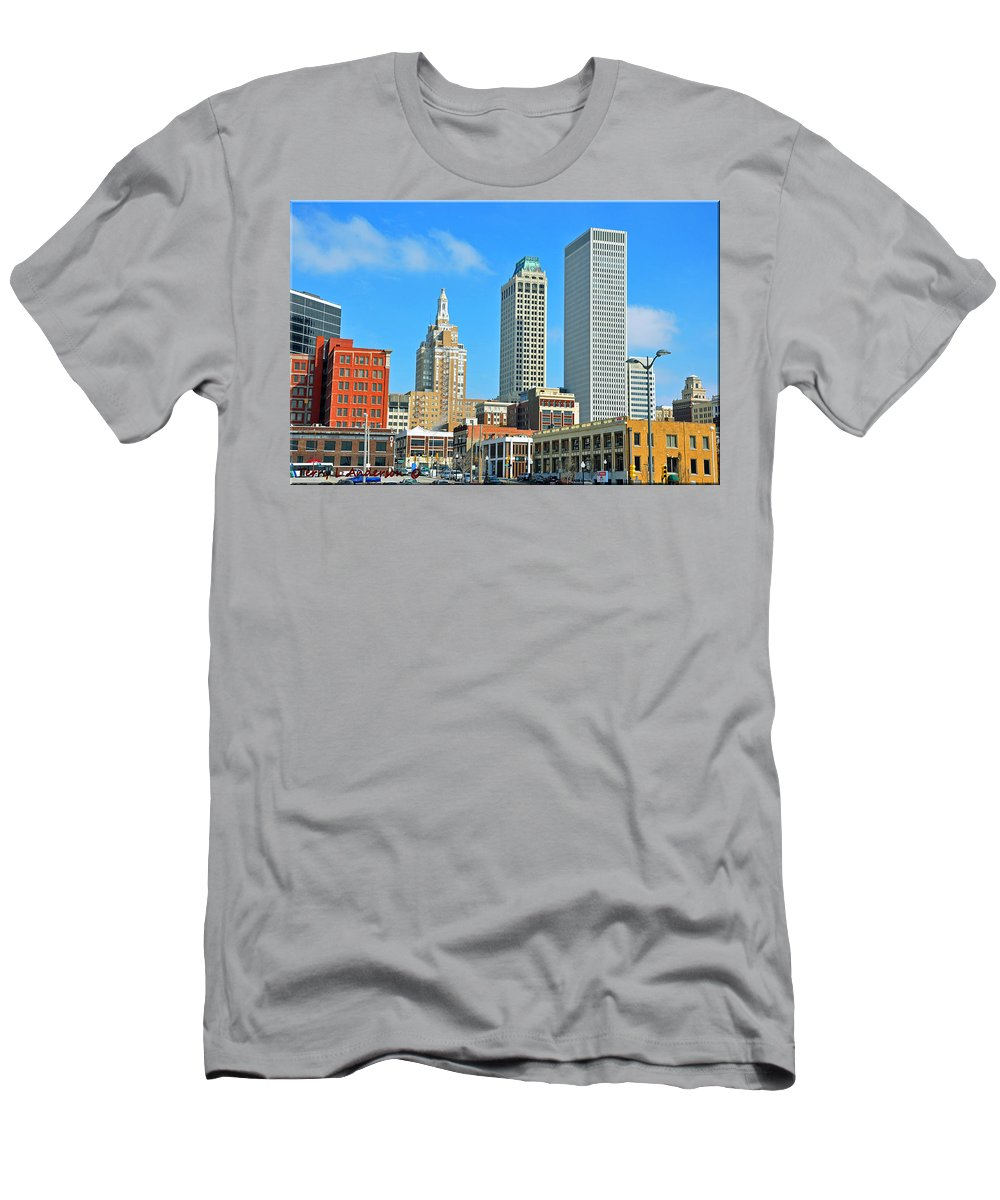 City Men's T-Shirt (Athletic Fit) featuring the photograph City View by Terry Anderson