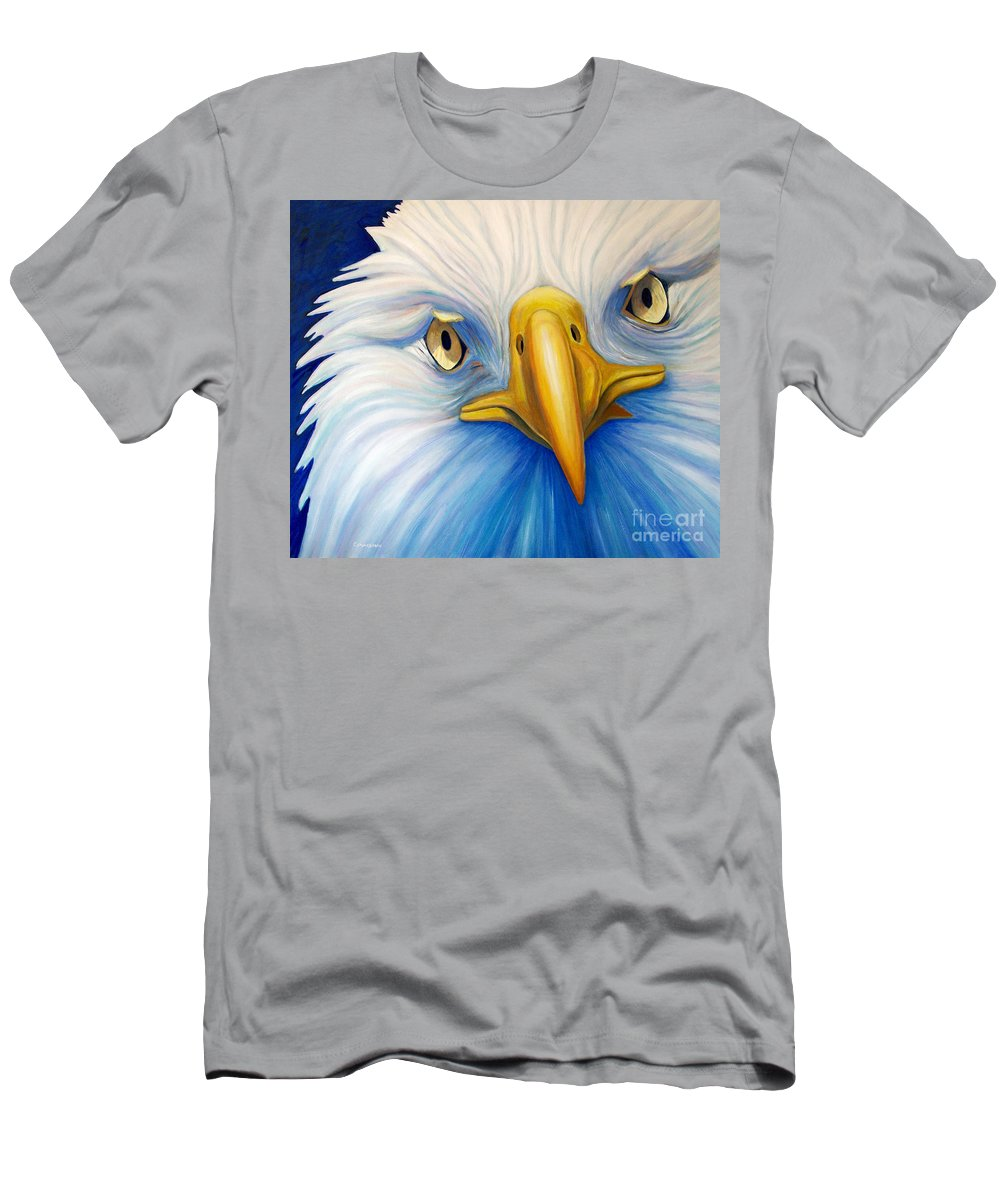 Eagle Men's T-Shirt (Athletic Fit) featuring the painting Clarity by Brian Commerford